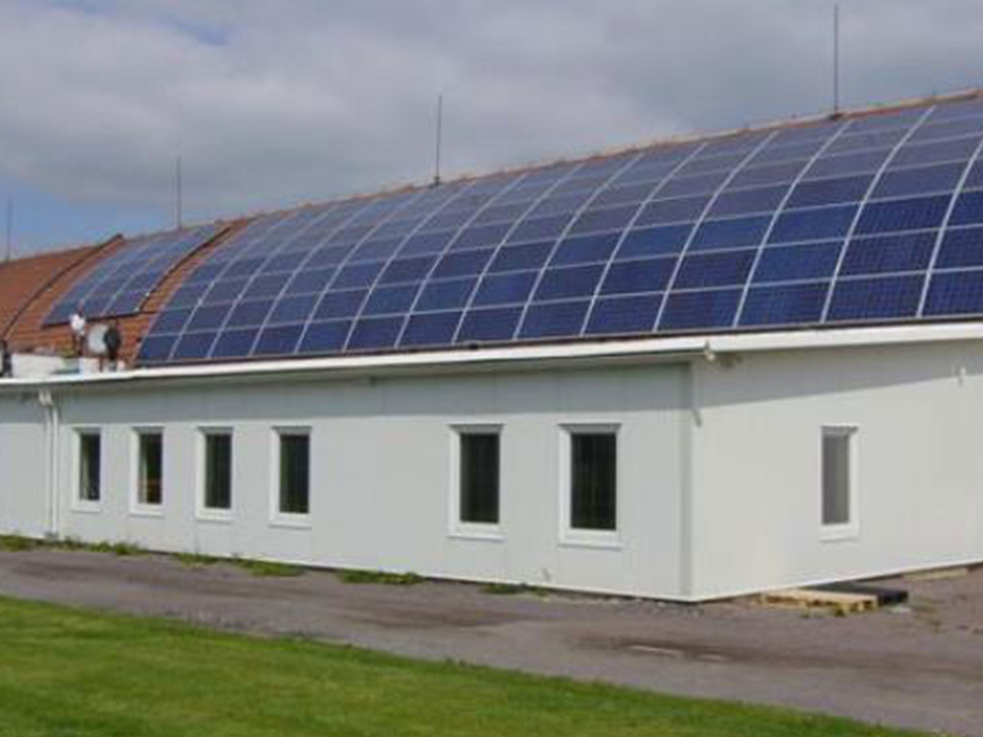 Industrial and warehouse complex, Bořice (CR) - Installation of photovoltaic power plants with an output of 30 kW.