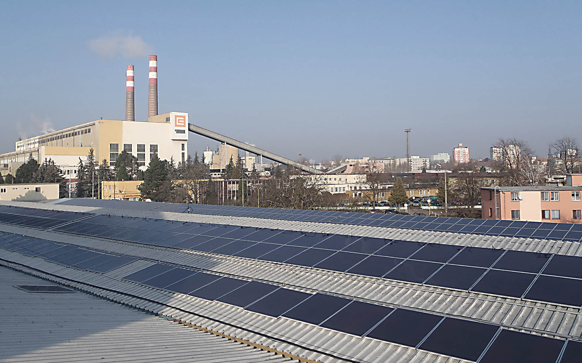 Industrial and warehouse complex, Hodonin. Installation of photovoltaic power plants with an output of 90 kWp.