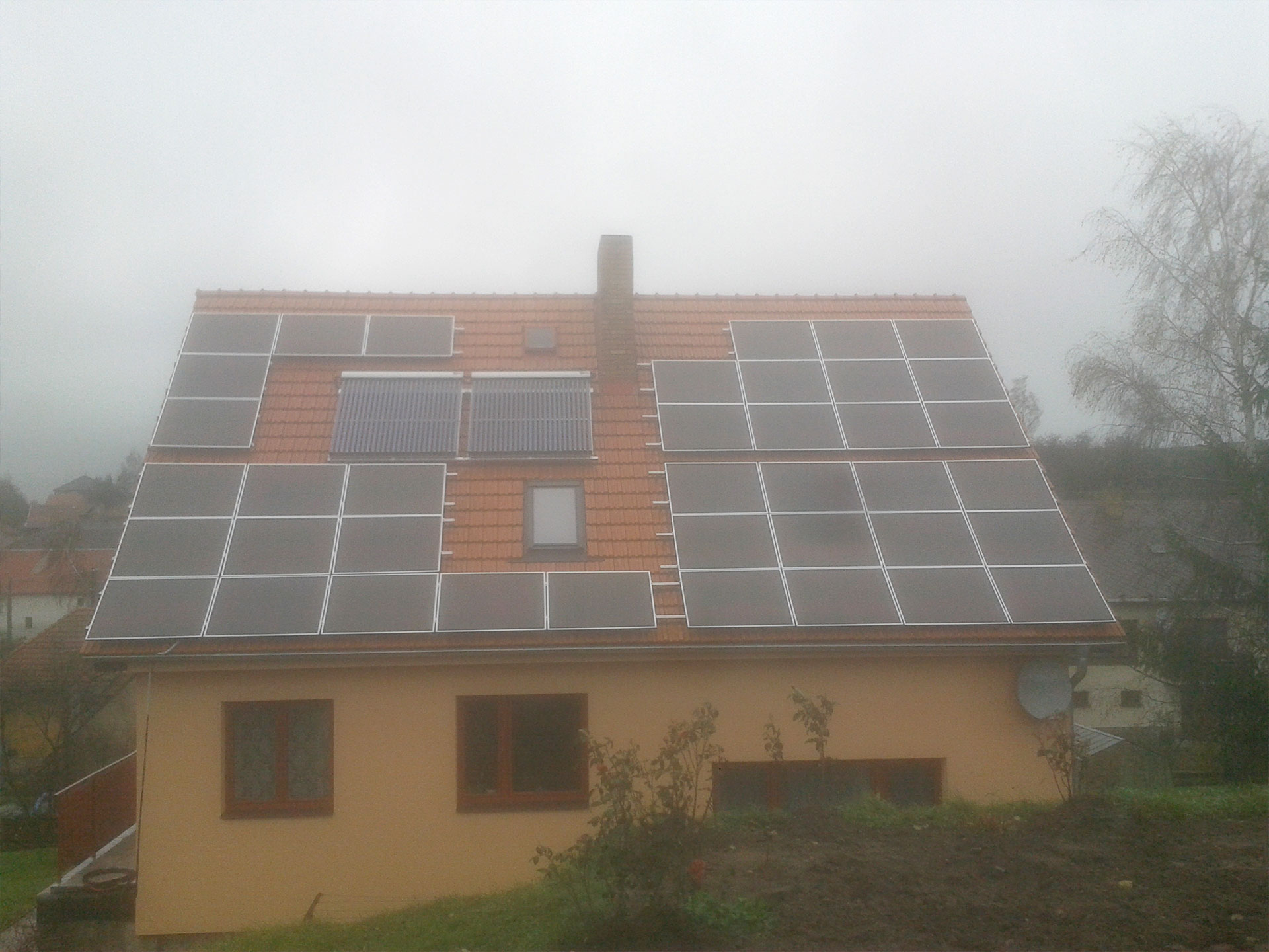 Installation of photovoltaic power plants (5 kWp).