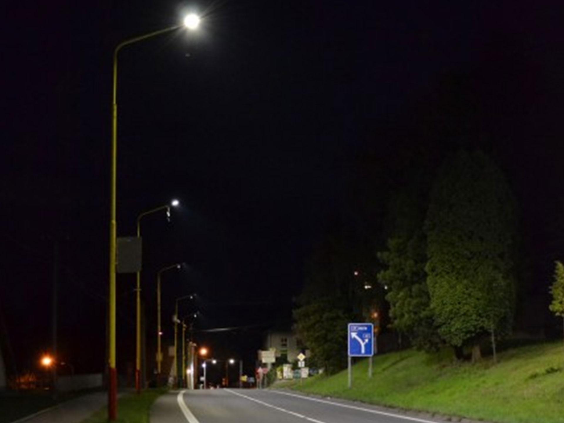 Výměna veřejného osvětlení ve městě Vizovice
